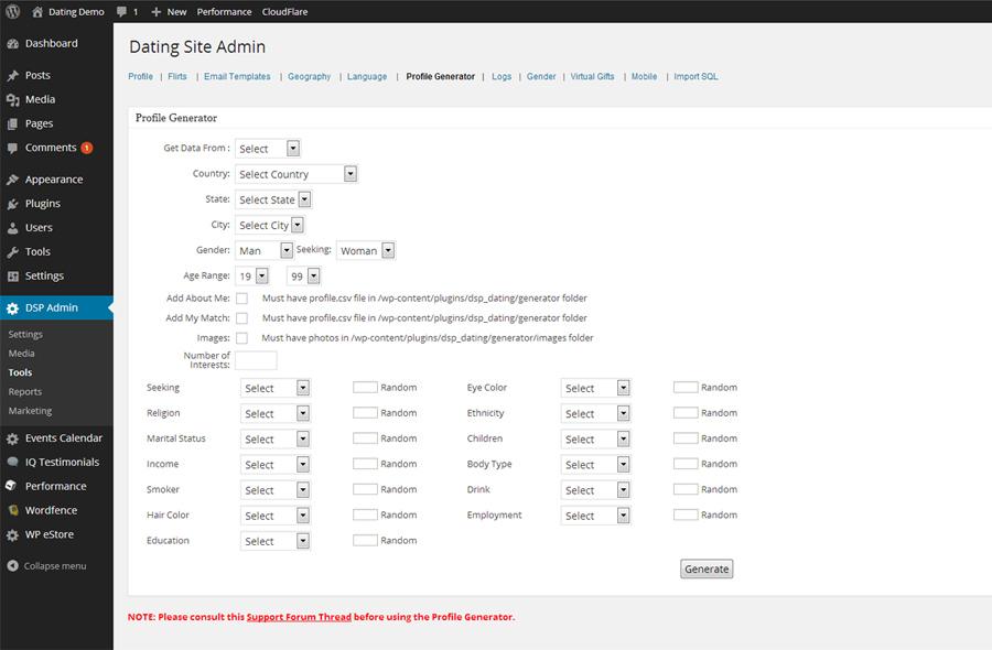 dsp-admin-tools-profile-generator